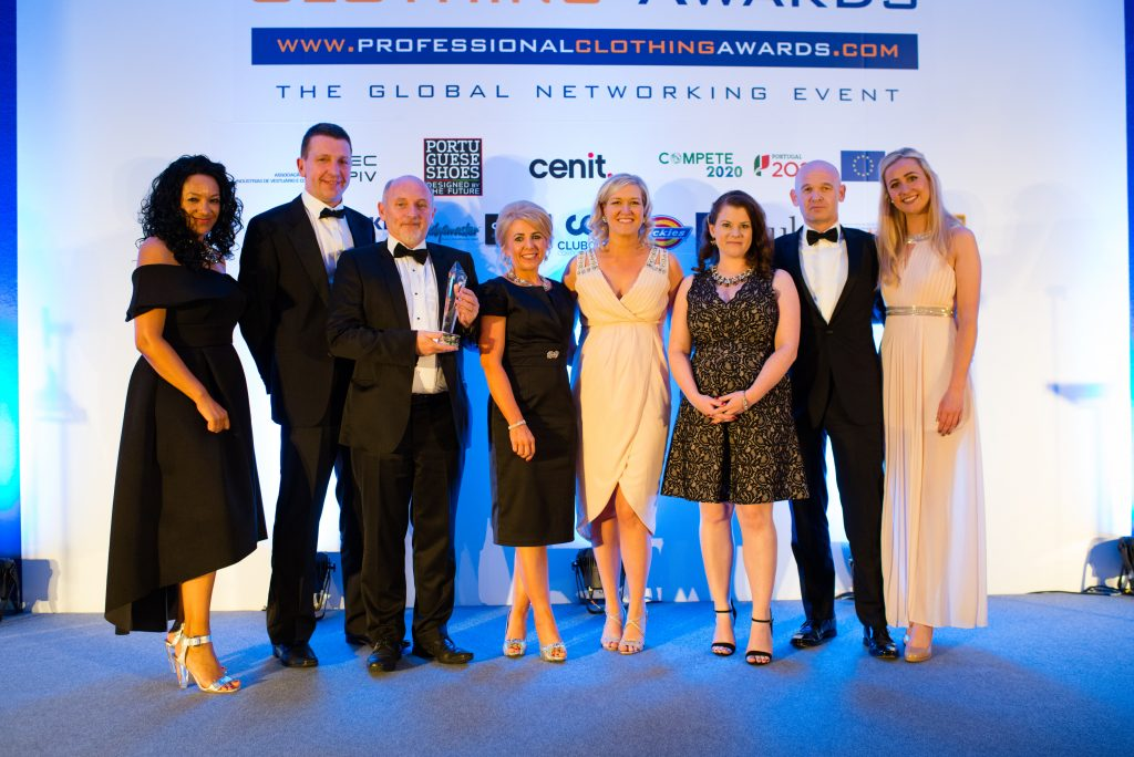 Winners at the UK Professional Clothing Awards