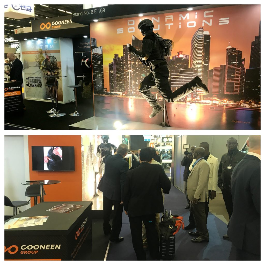 Cooneen Exhibit at Milipol Paris 2017